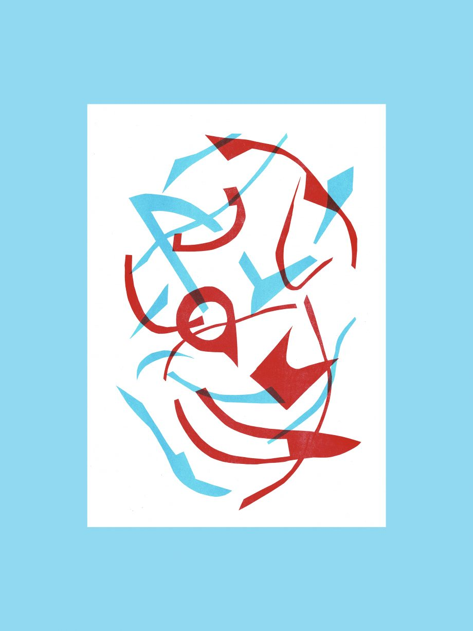 Lucy Grainge risography abstract illustration, art for your wall