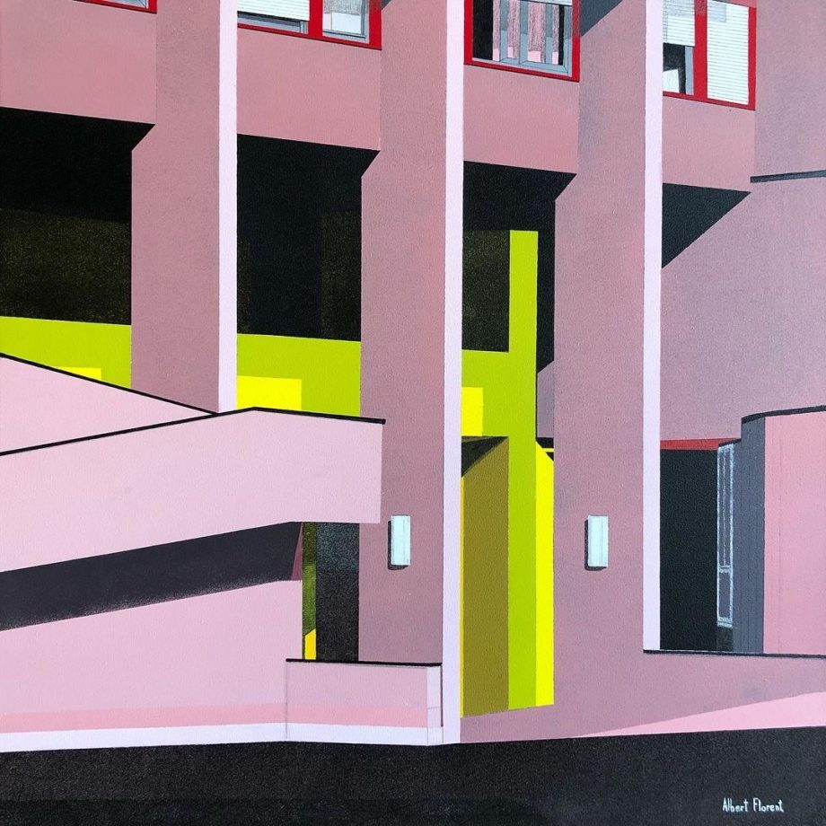 Painting Complejo Monte amista, architecture painting affordable contemporary art